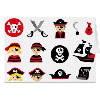 Pequeño pirata todo tarjeta de felicitación