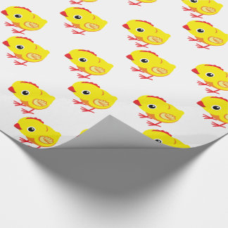 pequeño pollo papel de regalo