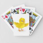 Pequeño polluelo amarillo feliz lindo de Pascua Baraja Cartas De Poker