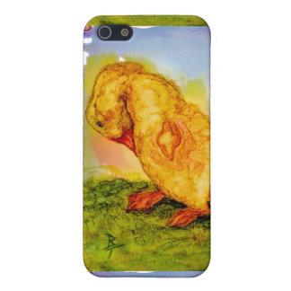 Pequeño polluelo dulce del bebé iPhone 5 carcasas