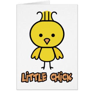Pequeño polluelo tarjeta de felicitación