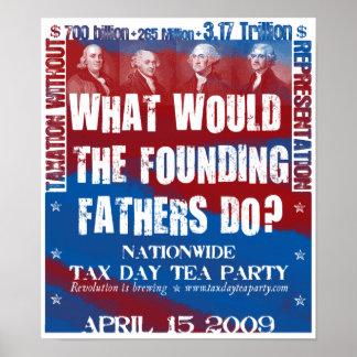 Pequeño poster de los fundadores
