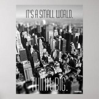 Pequeño poster de Nueva York del mundo