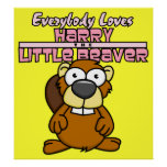 Pequeño poster del castor de Harry