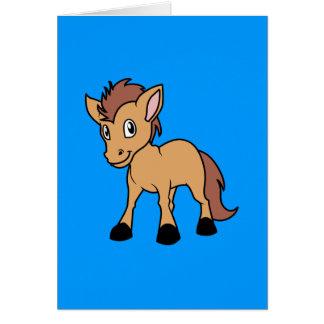Pequeño potro del potro del caballo del potro tarjeta de felicitación