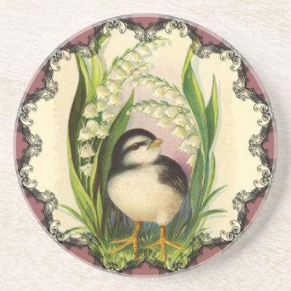 Pequeño práctico de costa del vintage del pájaro posavasos diseño