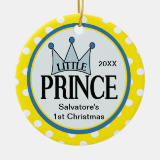 Pequeño príncipe amarillo First Christmas Ornament Ornamento Para Reyes Magos