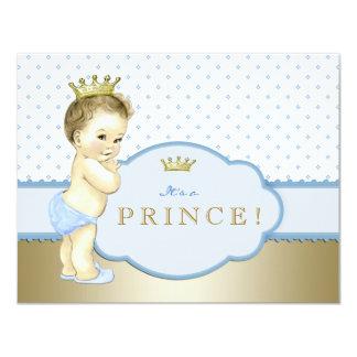 Pequeño príncipe azul fiesta de bienvenida al bebé invitación 10,8 x 13,9 cm