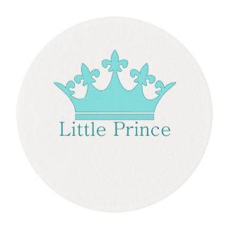 ¡Pequeño príncipe - bebé real! Láminas De Glaseado Redondas