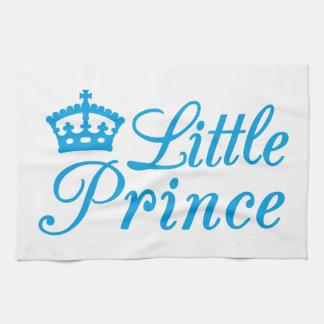 Pequeño príncipe, diseño con la corona azul para e toallas