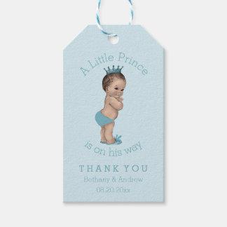 Pequeño príncipe fiesta de bienvenida al bebé del etiquetas para regalos