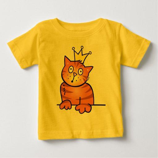 Pequeño príncipe Kitten Cat con la corona - camisa