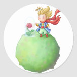 Pequeno Príncipe Pegatina Redonda