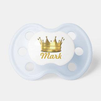 Pequeño príncipe personalizado Crown Pacifier Chupetes De Bebé