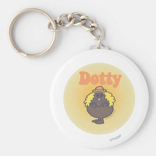Pequeño proyector de Srta. Dotty el | Llavero Redondo Tipo Pin