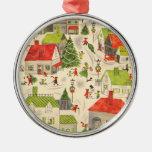 Pequeño pueblo del navidad ornaments para arbol de navidad