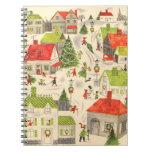 Pequeño pueblo del navidad spiral notebooks