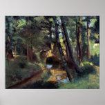 Pequeño puente de Pontoise de Camille Pissarro Poster
