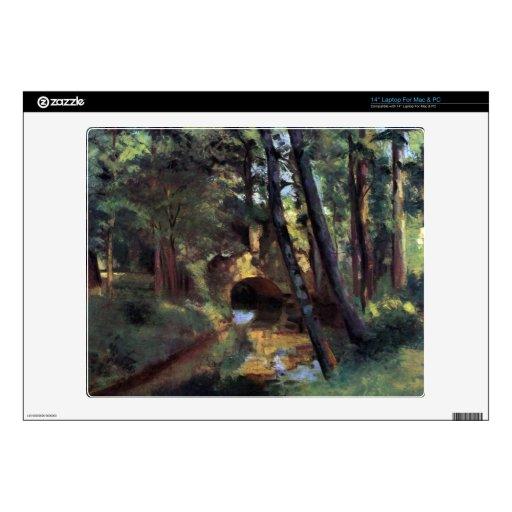Pequeño puente de Pontoise de Camille Pissarro Calcomanías Para Portátiles