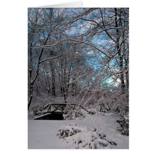 Pequeño puente en invierno, Nueva Inglaterra Felicitaciones