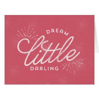 Pequeño querido ideal tarjeta de felicitación grande