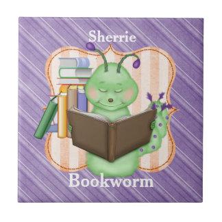 Pequeño ratón de biblioteca verde teja cerámica