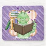 Pequeño ratón de biblioteca verde alfombrilla de raton