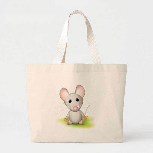 Pequeño ratón gris bolsa de mano
