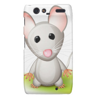Pequeño ratón gris funda para droid RAZR