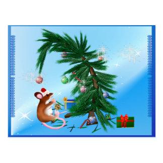Pequeño ratón humilde del navidad tarjeta postal