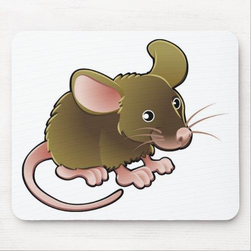 pequeño ratón marrón lindo tapetes de ratones