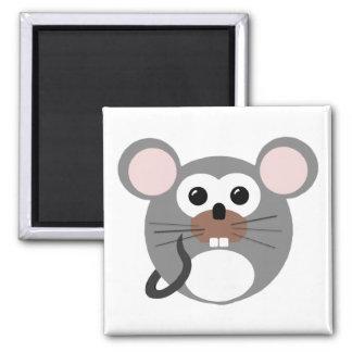 Pequeño ratón redondo imán cuadrado