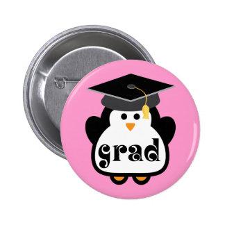 Pequeño regalo de la graduación del pingüino del pin redondo 5 cm