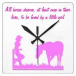 Pequeño reloj de la vaquera