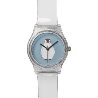 Pequeño reloj de los niños del pingüino de Brown