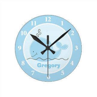 Pequeño reloj de pared personalizado de la ballena