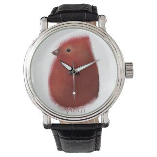 Pequeño reloj rojo del pájaro
