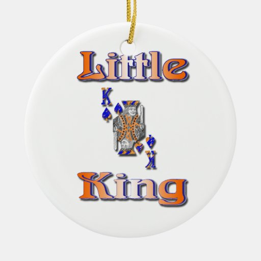 pequeño rey adorno navideño redondo de cerámica