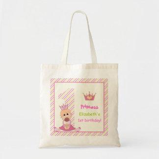 Pequeño rosa del cumpleaños de los chicas de la bolsa de mano