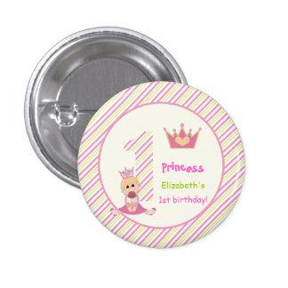 Pequeño rosa del cumpleaños de los chicas de la pins