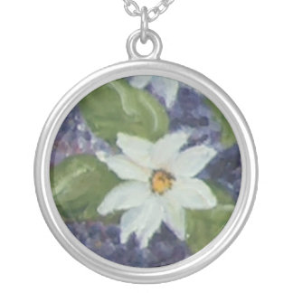 pequeno round pendant necklace