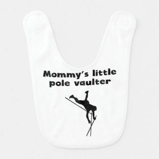 Pequeño saltador de poste de la mamá babero