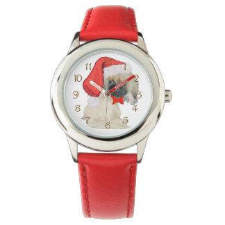 Pequeño Santa Pekingese Relojes