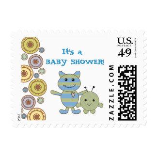 Pequeño sello de la fiesta de bienvenida al bebé d