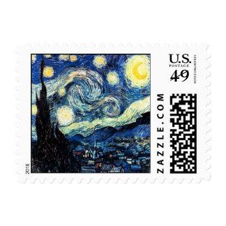 Pequeño sello de la noche estrellada de Nicolás Pi