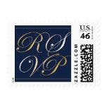 Pequeño sello de RSVP de los azules marinos