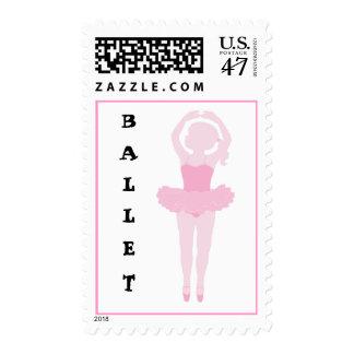 Pequeño sello del ballet de la bailarina