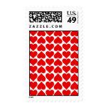 Pequeño sello rojo de los corazones de la tarjeta