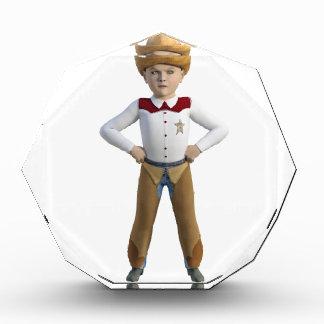 Pequeño sheriff del vaquero