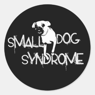 Pequeño síndrome del perro pegatina redonda